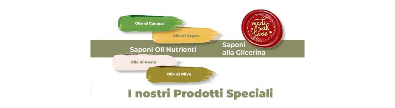 Prodotti speciali, Saponi solidi e Saponi olio di Canapa | Saponeria Artigiana